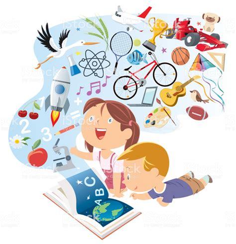 Happy Kids Reading Storybook Stock Illustration   Download ...