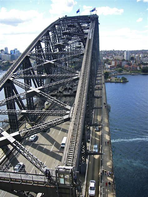 Harbour Bridge w Sydney  Australia    most łukowy
