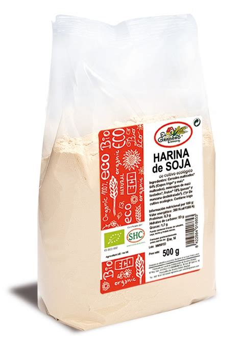Harina de Soja de cultivo biológico   500 g