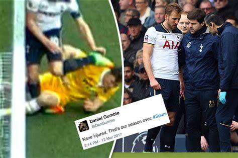 Harry Kane injured: Tottenham fans horrified by nasty leg ...