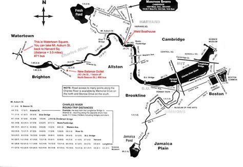 Harvard College Marathon Challenge   Routes