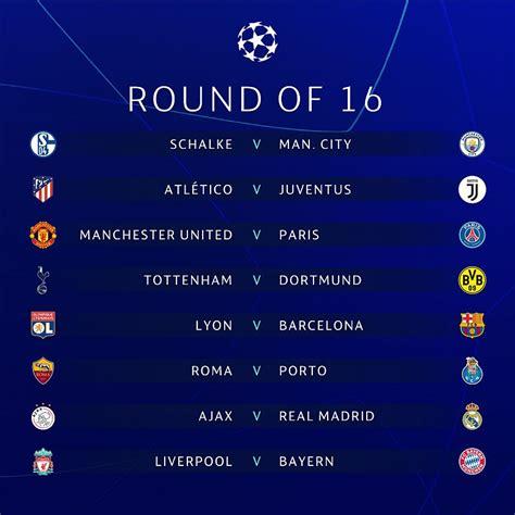 Hasil Undian 16 Besar Liga Champions 2018 2019 : Okezone Bola