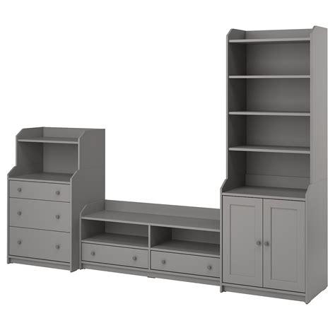 HAUGA Mueble almacenaje/TV   gris   IKEA