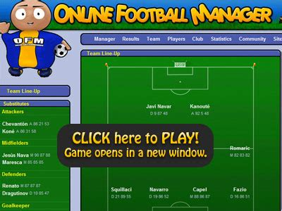 Have Fun with Free Online Football Manager Games