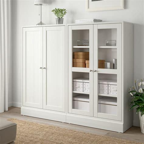 HAVSTA Combi almacenaje puertas vidrio   blanco   IKEA