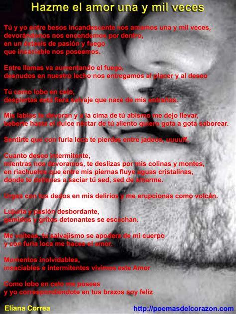 Hazme el amor una y mil veces mientras me besas