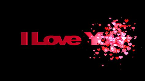 HD I Love You Animated Text Message   YouTube