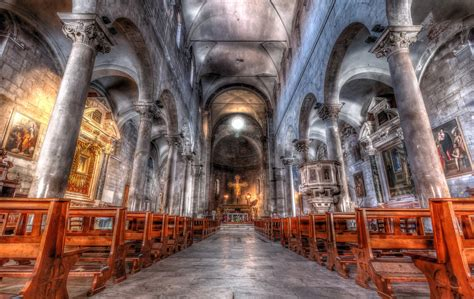 hdr religion column architecture nave the church of san ...