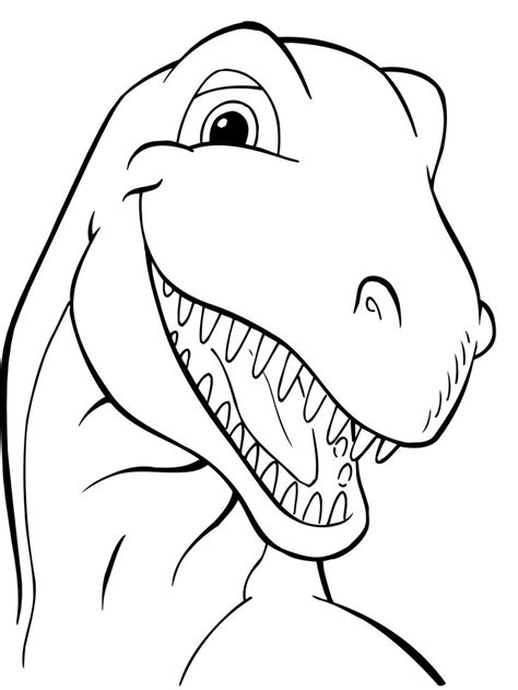 Head Dinosaurs coloring picture for kids | Dinosaurios ...