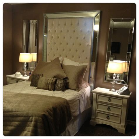 Headboard with Mirrors Extra Tall Headboard Queen Size