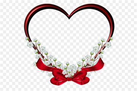 Heart Picture frame Clip art   Transparent Red Heart Frame ...