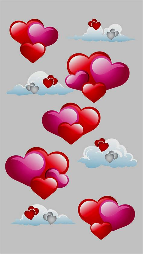 Heart s in the clouds | Heart wallpaper, Valentines ...
