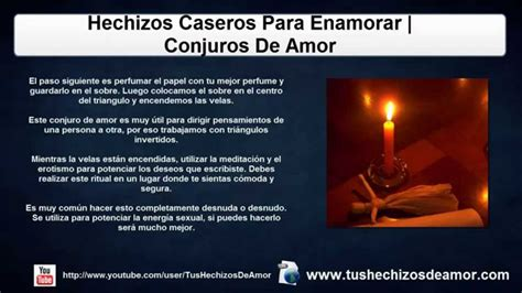 Hechizos Caseros Para Enamorar | Conjuros De Amor   YouTube