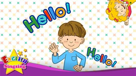Hello  Character introduction    Kids English song   Sing ...