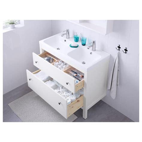 HEMNES Armario lavabo 2 cajones   blanco   IKEA