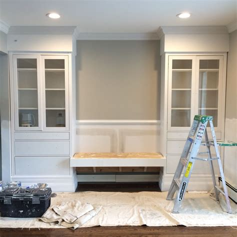 Hemnes cabinets from ikea w/ extra molding to look like ...