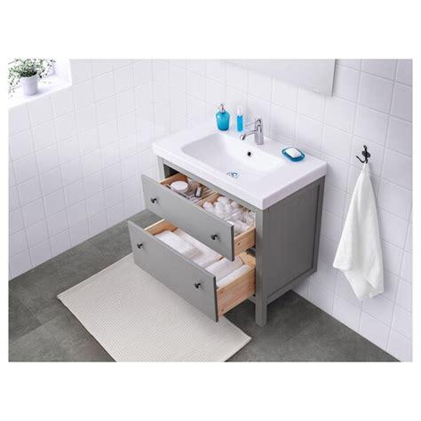 HEMNES Meuble lavabo 2tir   gris   IKEA