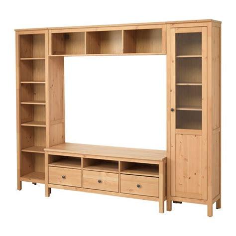 HEMNES Mueble TV con almacenaje   marrón claro, 246x197 cm ...