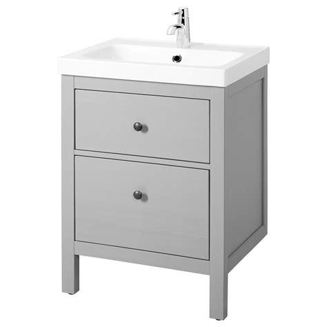 HEMNES / ODENSVIK Mueble de lavabo con 2 cajones   gris   IKEA