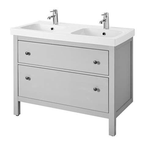 HEMNES / ODENSVIK Sink cabinet with 2 drawers   gray   IKEA