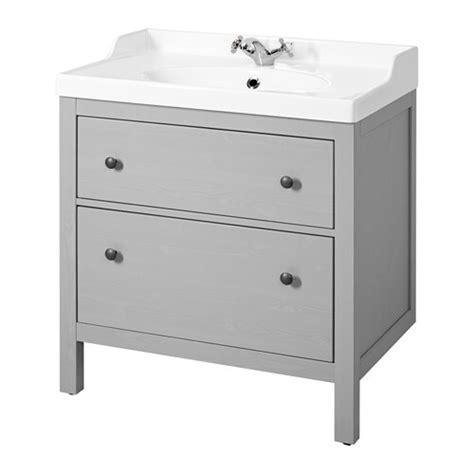 HEMNES / RÄTTVIKEN Meuble pour lavabo, 2 tiroirs   gris   IKEA