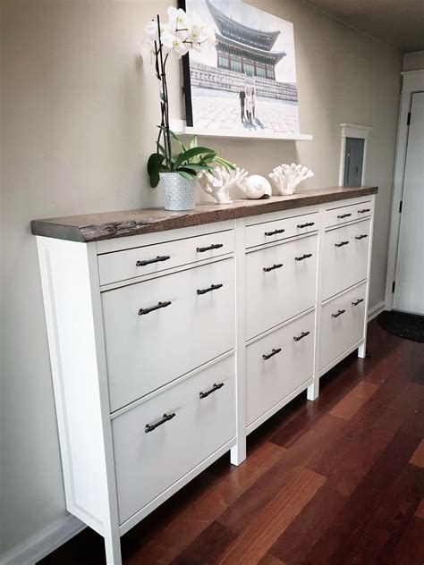 HEMNES Shoe cabinet with 2 compartments, white, 35x50 ...