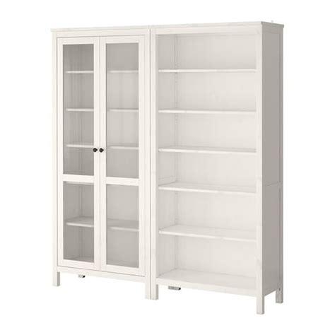 HEMNES Storage combination w/glass doors   white stain   IKEA