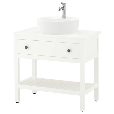 HEMNES / TÖRNVIKEN Open sink cabinet with 17¾  sink ...