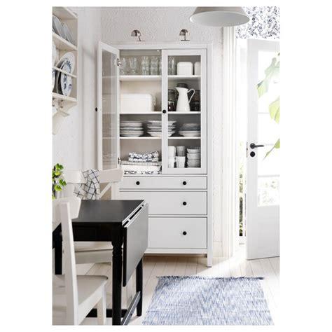 HEMNES Vitrina con cajones   tinte blanco   IKEA