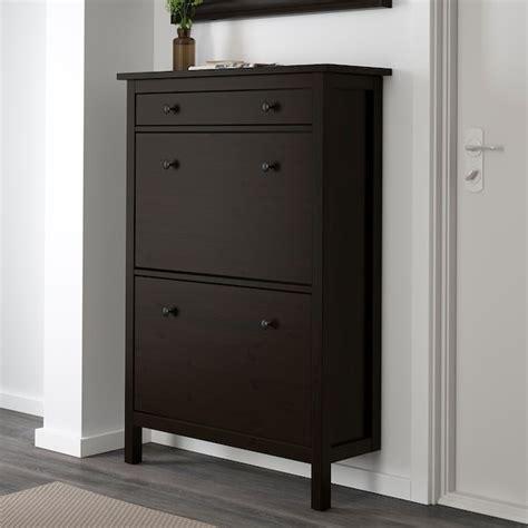 HEMNES Zapatero 2, negro marrón, 89x127 cm   IKEA