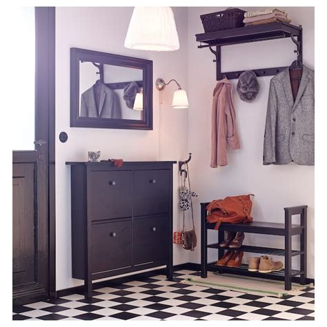 HEMNES Zapatero con 4 compartimentos   negro marrón   IKEA