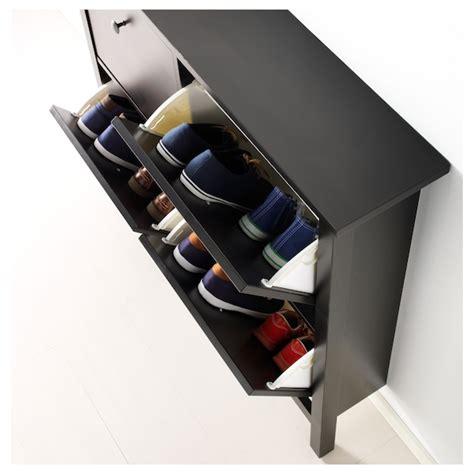 HEMNES Zapatero con 4 compartimentos, negro marrón ...