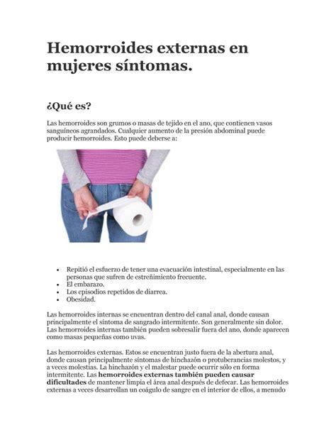 Hemorroides externas en mujeres síntomas by Pablo zim   Issuu