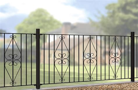 Henley Metal Garden Fencing Panels   Wrought Iron Gates Direct