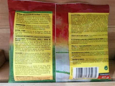 Herbicida total para el control de todas las malas hierbas ...