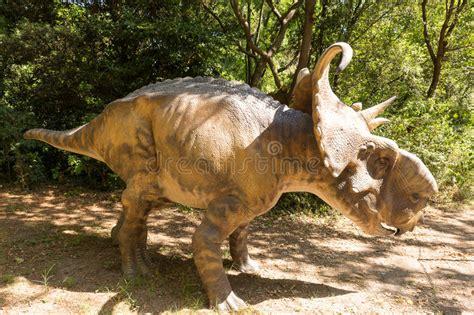 Herbivorous Dinosaur With Horns Stock Photo   Image of ...