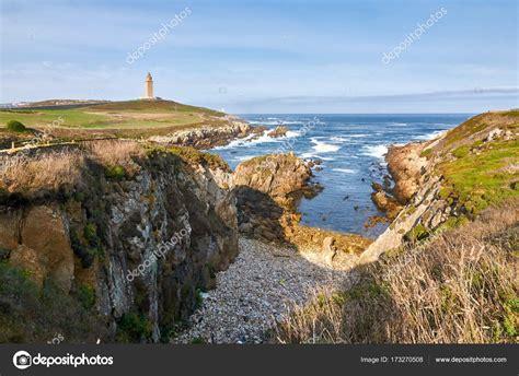 Hercules Leuchtturm. A Coruña, Spanien — Stockfoto ...