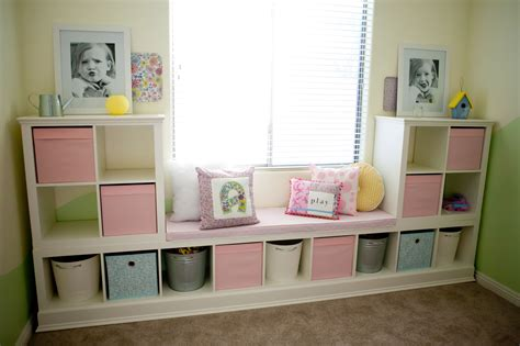 Here are my IKEA shelves that I hacked for my daughters ...