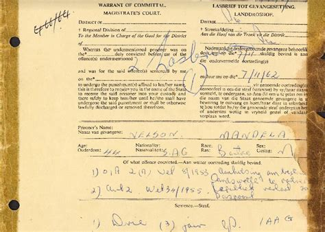 Here s The Infamous 1962 Document Committing Mandela To ...