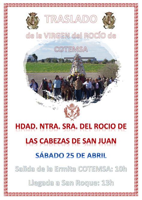 Hermandad de Las Cabezas de San Juan – Traslado Virgen del ...
