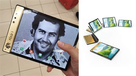 Hermano de Pablo Escobar presenta su propio teléfono plegable
