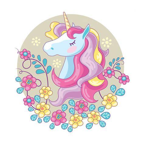 Hermosa cabeza de unicornio y lindo | Descargar Vectores ...
