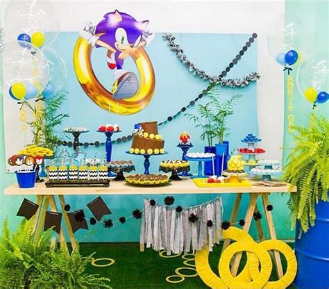 Hermosa decoración con Sonic listo a la aventura @festices
