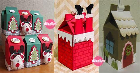 Hermosas cajas navideñas tipo caja de leche   Dale Detalles