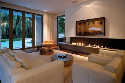 Hermosas salas con chimeneas modernas   Salas con estilo