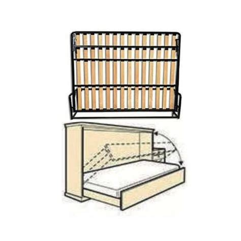 Herraje para cama murphy abatible a la pared Horizontal ...