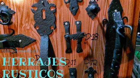 HERRAJES ANTIGUOS para puertas de madera   YouTube