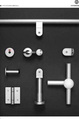 Herrajes de aluminio para cabinas sanitarias