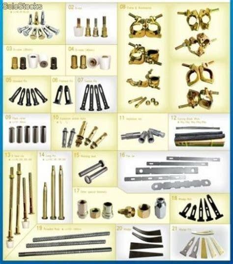 herrajes para aluminio y metal para fijar encofrado