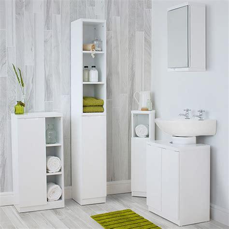 High Gloss Compact Bathroom  Tallboy   White   STORE ...